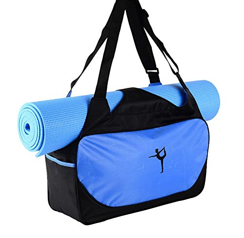 Black Temptation Yoga-Matten-Tasche, Yoga-Rucksack-dauerhafte Yoga-Matten-Tasche Yoga-Einkaufstasche-Blau