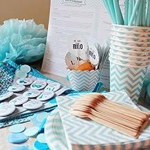 Baby Shower fiesta Niño - Incluye un pack completo para menú de 12 invitados + listado de juegos e ideas originales para la celebración