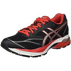 Asics Gel-Pulse 8, Zapatillas de Running Hombre, Negro (Black/Vermilion/Silver), 42.5