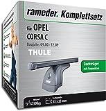 Rameder Komplettsatz, Dachträger SquareBar für OPEL Corsa C (116017-04650-21)