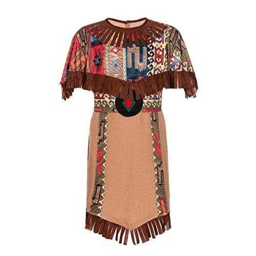erin-Kostüm Kinder Indianer-Kostüm Mädchen Größe 116-128 (80's Kostüm Ideen Für Mädchen)