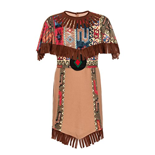 Indianer Squaw Kostüm Kind - Kostümplanet® Indianerin-Kostüm Kinder Indianer-Kostüm Mädchen Größe