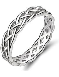 Damen Ringe 925er Silber Keltisch Knoten Verlobungsringe Trauringe