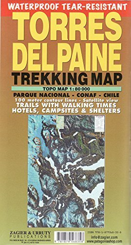 Torres del Paine Waterproof Trekking Map (English/Spanish Edition) by Sergio Zagier (2016-03-31)