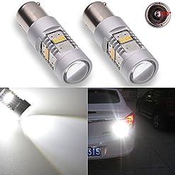 KaTur, LED 1800LM bianco 1156BA15S 11417506, lampadina di ricambio LED 14 SMD Cree 3020 per camper, SUV, monovolume, auto, fanali per indicatori di direzione, luci posteriori e di stop, luci di ricambio (confezione da 2)