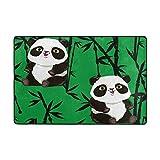 ALAZA Netter Panda Bamboo Bereich Teppich 4 x 6 Feet, Wohnzimmer Schlafzimmer Küche Dekorative