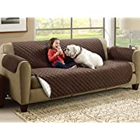KBF Reversible Couch Cover for Dogs, Kids, Pets - Sofa Slipcover Set Furniture Protector