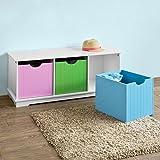 SoBuy Spielzeugkiste,Spielzeugtruhe, Spielzeugbox, Sitzbank, Kind, bunt, FSR30-F