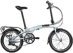 Dahon Faltrad QIX D8 8 Gang Silver 20 Zoll Alu Klapp Fahrrad Kettenschaltung Aluminium Faltbar,