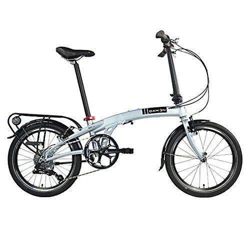 Dahon Faltrad QIX D8 8 Gang Silver 20 Zoll Alu Klapp Fahrrad Kettenschaltung Aluminium Faltbar, 942126