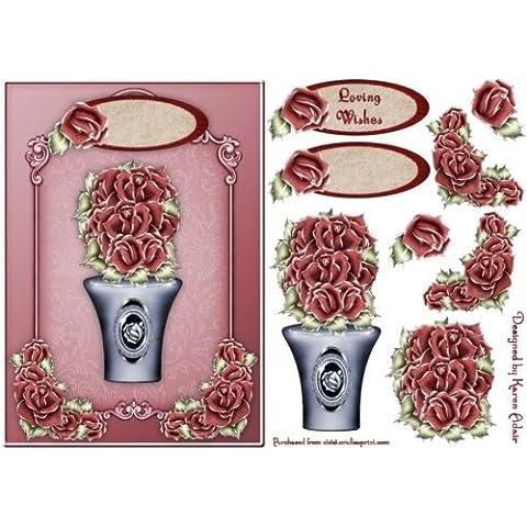 Bouquet di rose di fronte con passo