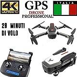 drone QUADRICOTTERO RADICOMANDATO GPS 4K Professionale Telecamera MOTORIZZATA 4CH X2 5,8 GHz C
