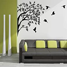 "Kayra Decor ""Home Coming Birds"" Reusable Wall Stencil in Plastic Sheet (60 x 55 inches)"