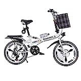 Klappräder Fahrrad-faltende Verschiebende Scheibenbremsen 20-Zoll-Dämpfung Unisex Ultralight Portable Faltrad
