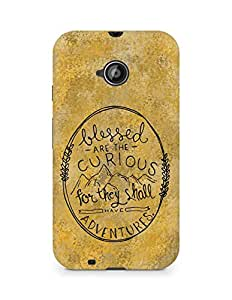 AMEZ Blessed are the curious Back Cover For Motorola Moto E2