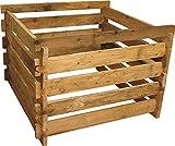Gartenwelt Riegelsberger Holzkomposter Lärche, 100x100xH60 cm mit Holz-Stecksystem Komposter Komposte Steckkomposter Kompostsilo