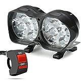 Rupse Led Phare Moto Spot Lumière Clignotant Moto Projecteur 9-85V Lampe Etanche...