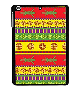 Fiobs Designer Back Case Cover for Apple iPad Mini 2 :: Apple iPad Mini 2 Wi-Fi + Cellular (3G/LTE); Apple iPad Mini 2 Wi-Fi (Wi-Fi, w/o GPS) (jaipur rajasthan african america cross pattern)