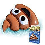 mikamax - Aufblasbares Pillow Poo Braun - Inflatables - Emoji Pool Float - 120 cm x 162 cm -...