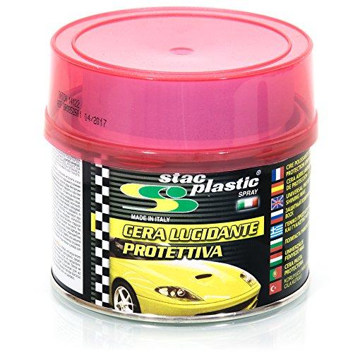 STAC PLASTIC Cera lucidante Protettiva Auto Moto Parti Metalliche plastiche cromature 250g