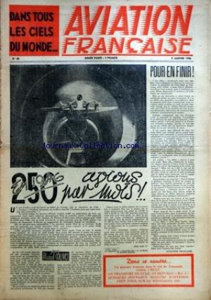AVIATION FRANCAISE [No 48] du 02/01/1946 - ARTICLE DE MARCEL COLIVET - DANS LE CIEL DE VENEZUELA - GASTON CHENU - LE REPUBLIC R.C. 2 - MOTEURS D'AVIATION - LE MODELISME 1945 par Collectif