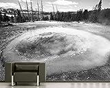 Vlies Fototapete - Morning Glory Pool - schwarz Weiss - 200x150 cm - mit Kleister - Foto auf Tapeten - Wandtapete – Vliestapete – Wanddeko