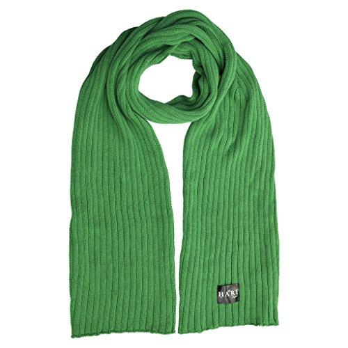 Hart Mens Green Cotton Ribbed Scarf
