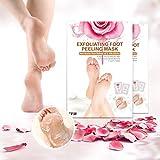 2 Paar Rosen Fußmaske, Y.F.M Rosenduft Hornhaut entfernen Fußhaut weichen Roseextrakt und Milchextrakt Fuß zart wie Baby Poren reinigen Tote Haut Entfernen