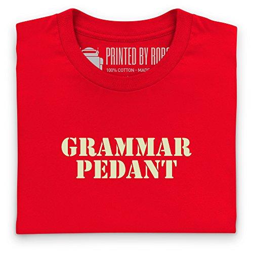 Grammar Pedant T-shirt, Uomo Rosso