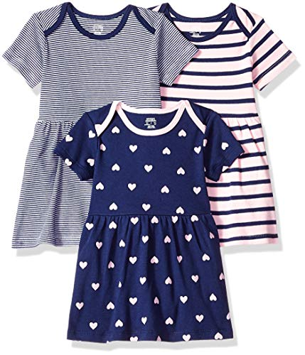 Amazon Essentials 3-Pack infant-and-toddler-dresses, Girl Heart, Preemie - Preemie Kleidung