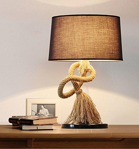 Einfache schreibtisch lampe,Antike tischleuchte,Rope Dekoration Bett nachttisch-lampe Kreative...