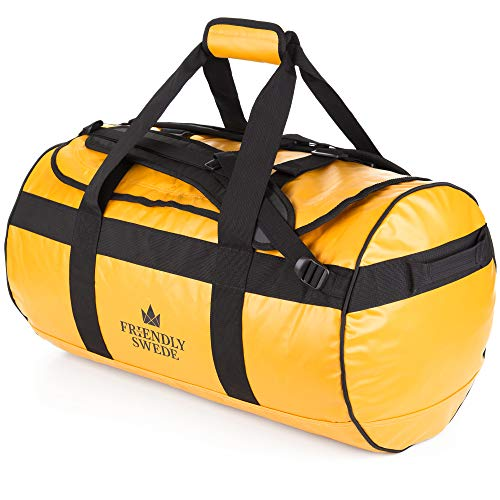 Borsone da Viaggio e Sport Convertibile in Zaino - Duffel Bag - The Friendly Swede (Giallo 60L)