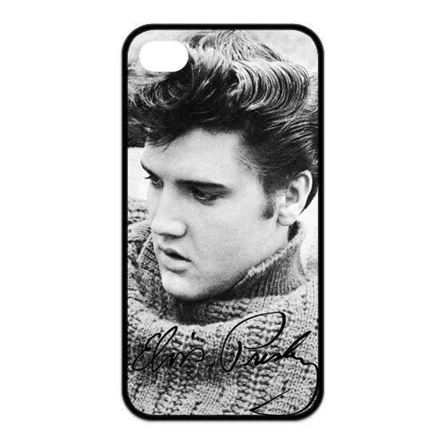 fayruz- 5S Cas, Elvis Presley en caoutchouc TPU Housse Étui rigide pour iPhone 5/5S b-i5W225