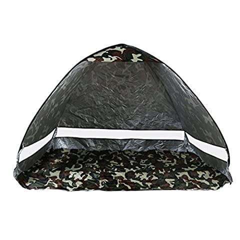 sourcingmap® Beach Sun Shade Tent,Outdoor Automatic Pop up Instant Portable Cabana 2-3 Person Fishing Anti UV Beach Sun Shelter Tent, Sets up in Seconds