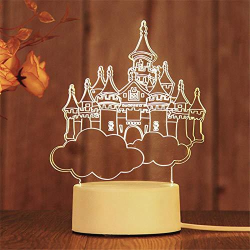 Haoming Department store Kreatives Nachtlicht des Geschenks 3D führte dekoratives Tischlampengeburtstags-Nachtlicht, Sky City, 4w