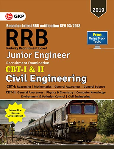 RRB (Railway Recruitment Board) 2019 - Junior Engineer CBT -I & II - Civil Engineering