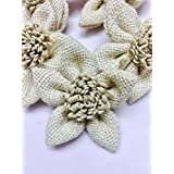 Jute Flowers hobby craft Decor Event dresses designing buy 4