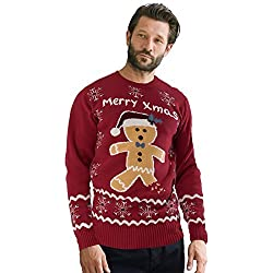 simplyyours Navidad Unisex Sueter Jersey Novedad Mujer Hombre Ropa de Fiesta - Pan de Jengibre Vino, XXXX-Large
