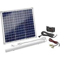 Esotec Solar-Set 120006 30 Wp incl. Laderegler, con LED Leuchte