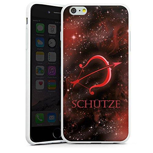 Apple iPhone X Silikon Hülle Case Schutzhülle Sternzeichen Schütze Bogen Silikon Case weiß
