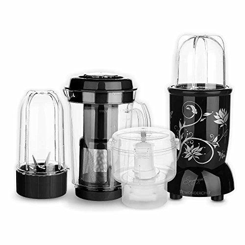 Wonderchef Nutri-Blend CKM with 3 Jars (Black)