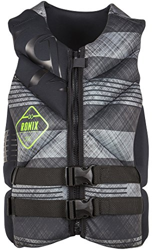 RONIX Forester Capella Weste 2016 Black/Grey Plaid, S