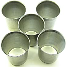 5moldes de metal vela votiva
