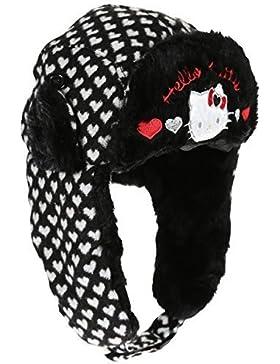 Sombrero con forro de malla y peletería-Gorro infantil de 3, diseño de Hello kitty de 3 a 9 años