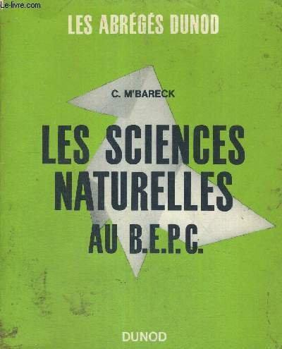 LES SCIENCES NATURELLES AU BEPC