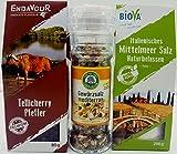 Gourmet Gewürze Probier Geschenk Set -mediterran – kulinarisches Gewürze Mix Geschenk für Männer Frauen und die Profis in der Küche Probierset - in der BIOVA Geschenkbox
