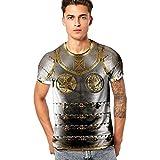 SANFASHION Herren mit Motiv Aufdruck T-Shirt Lustige 3D Ritter Tops Kurzarm Rundhals Tankshirt