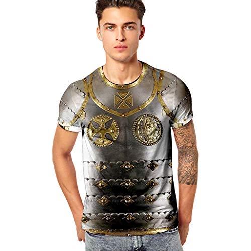 d9821cd9ec39 UJUNAOR Unisex Informale 3D Stampa Animalier Manica Corta T-Shirt Tees  Graphic,M/