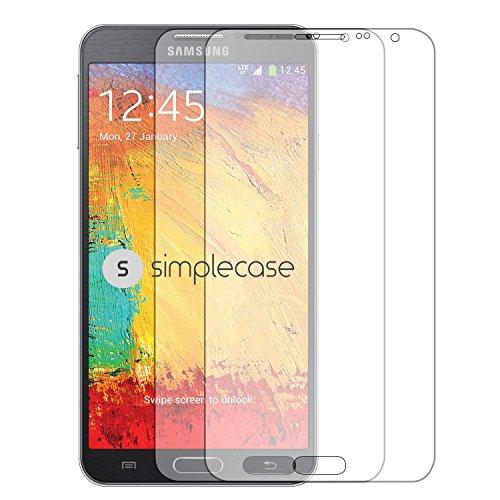 Simplecase Panzerglas passend zu Samsung Galaxy Note 3 neo , Premium Bildschirmschutz , Schutz durch Extra Härtegrad 9H , Case Friendly , Echtglas / Verb&glas / Panzerglasfolie , Transparent - 2 Stück
