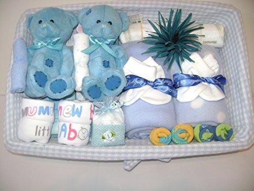 Deluxe Twin bebé cesta regalo niños. Bonito regalo